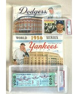 3 PIECES OF YANKEE HISTORY/W 1956 MANTLE - $840.51
