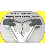 15 16 17 Toyota Sienna Steering Wheel Buttons Controls Radio AV NAV - $69.25