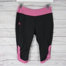 Under Armour Crop Pants Girls XL Pink Black - $18.76