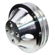 Chevy Small Block Double-Groove Aluminum Long Water Pump Pulley image 9