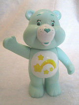 "CARE BEARS Green Wish Bear 4"" Rattle Vintage 2003 - Playmates Toys - $7.99"