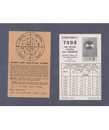 Honeywell T498 Heat Thermostat Information Data Card - $2.96