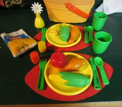 Vintage Fisher Price Fun With Food Pack A Picnic Basket - $71.25