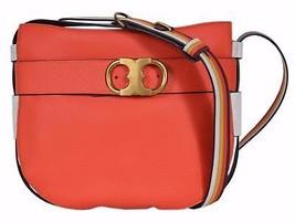 NEW Tory Burch Samba Red Leather Gemini Link Crossbody Purse Bag - $329.00