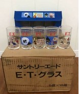 1983 Vintage E.T. Novelty Glass tumbler 5 Glass × 10 set Total 50 glass ... - $740.94