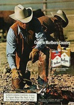 Marlboro Cowboys Ad Ranch Come to Country 1989 Cigarette Tobacco - $14.99