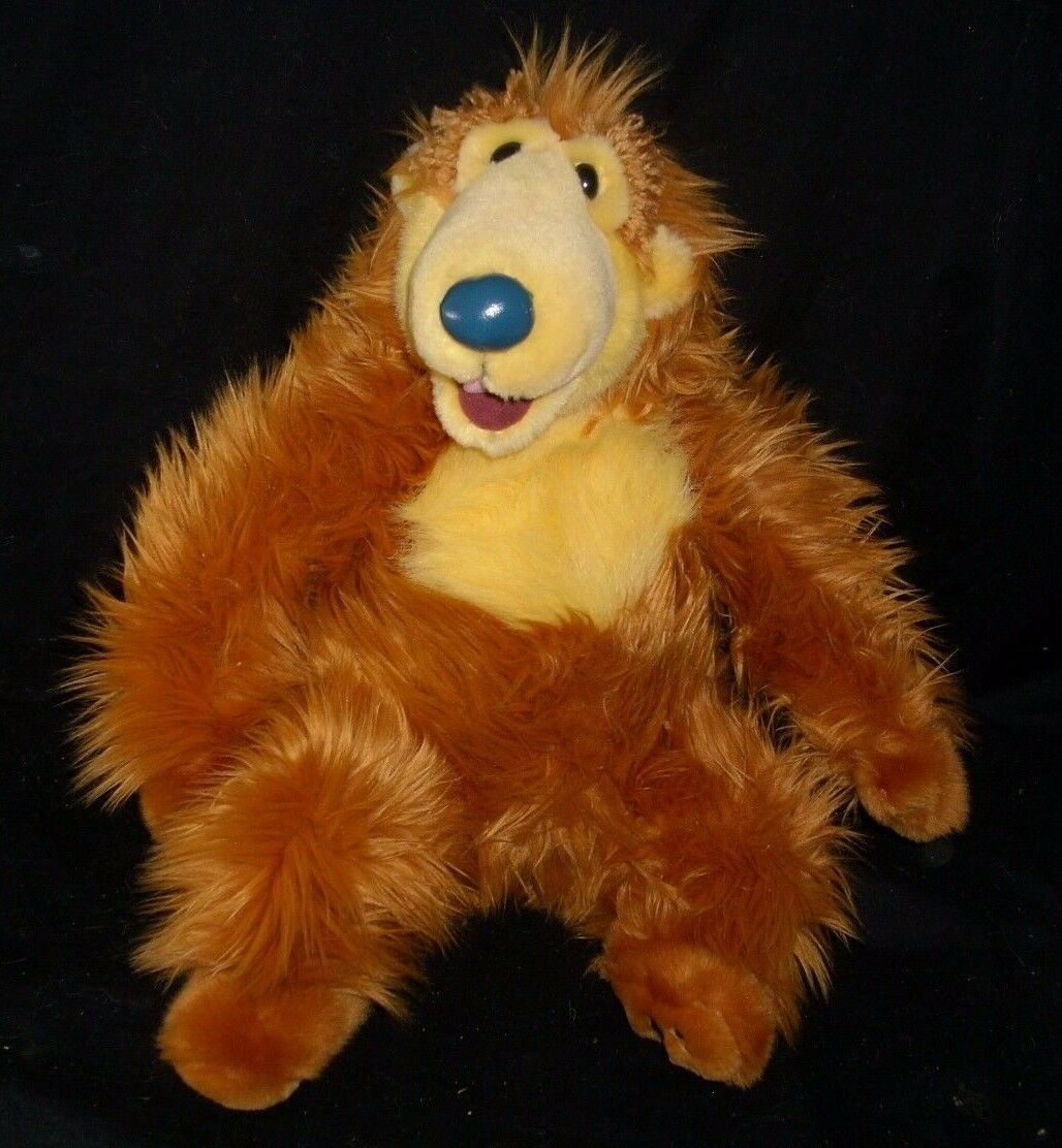 "13"" BIG DISNEY STORE BEAR IN THE BIG BLUE HOUSE ORANGE STUFFED ANIMAL PLUSH TOY"