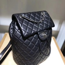 100% AUTHENTIC CHANEL 2017 BLACK QUILTED LAMBSKIN URBAN SPIRIT BACKPACK SHW image 4