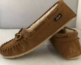 Clarks Cognac JMH1908 House Slippers Shoes Indoor Outdoor Womens Size 8M New! - $38.71