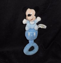 "7"" DISNEY BABY MICKEY MOUSE BLUE ABC BLOCK RATTLE CHIME STUFFED ANIMAL P... - $18.70"