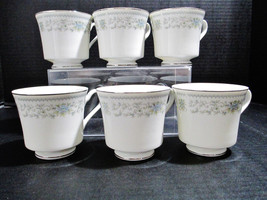 Nitto Fine China of Japan Set of 6 Coffee Cups Hanover Platinum Pattern ... - $39.10