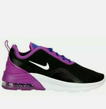 Nike Air Max Women's motion 2 black purple white rare running fashion wmns sz 8 - $69.99