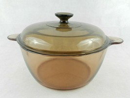 Corning Pyrex Vision Dutch Oven with Lid Amber Glass 4.5 L / 5 Qt - $34.64