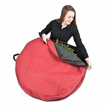 TreeKeeper Wreath Storage Bag with Direct Suspend Handle, Red, 24-Inch - $15.02