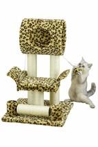 Cat Tree House Condo Leopard Print 18 in.x 28 in. Faux Fur Kitty Scratch... - $36.62