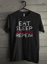 Eat sleep save lives repea - Custom Men's T-Shirt (3910) image 1