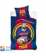 FC BARCELONA PIQUE SINGLE DUVET COVER PILLOW CASE FOOTBALL SOCCER CLUB T... - $33.07