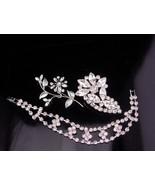 Dazzling rhinestone bracelet set / Vintage brooch / bridal jewelry / Wed... - $75.00