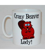 Crazy Beaver Lady Mug Can Personalise Funny Animal Lover Zoo Keeper Gift... - $9.23