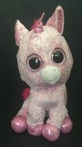 Ty Beanie Boos Jumbo Rosey Unicorn Plush Stuffed Animal Pink Horned Horse Toy - $79.19