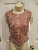 New Inpkg PINK/BLACK Reptile Print Leather Vest Weskit Top Newport New, Size 10, - $58.66