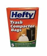 Hefty 5 Count Trash Compactor Twist Tie Bags 18 Gallon (1 Box) - $19.64