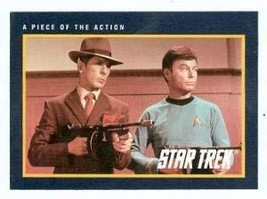 Star Trek card #173 A Piece of the Action Deforest Kelly Dr McCoy and Leonard Ni - $3.00