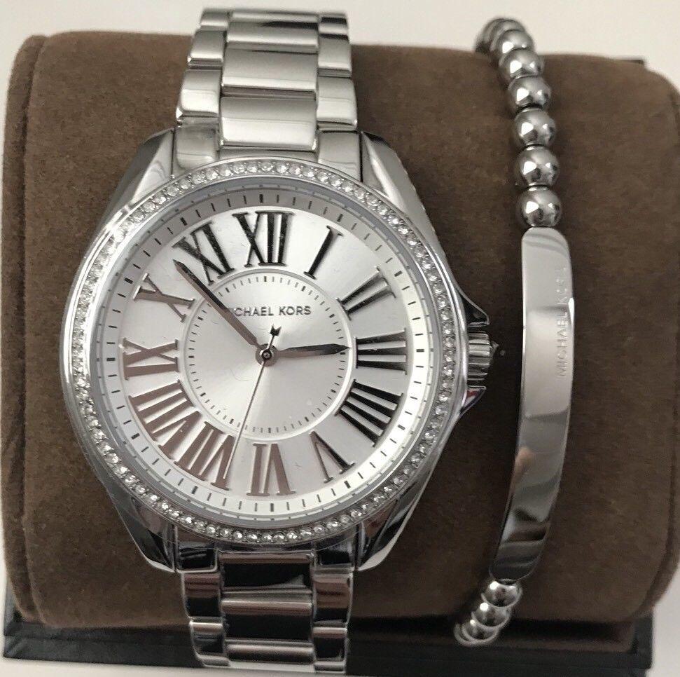 5c64da507486 Michael Kors MK6183 Kacie Silver Dial Watch and 50 similar items. S l1600