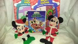 Disney's Mickey Mouse Chirstmas Gift Set, Stuffed Mickey & Minnie, DVD, Books - $15.99