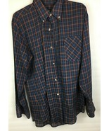 Vintage Levis Western Shirt Size Med Thin Plaid Button Up 70's - $19.99