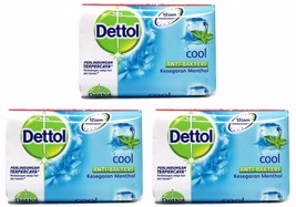 3 X Dettol COOL Anti-Bacterial Hygiene Hand and Body Bar Soap 12H 105g /... - $9.99