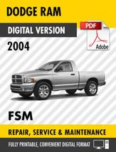 2004 DODGE RAM 1500 2500 3500 4000 WORKSHOP MANUAL / SERVICE MANUAL OEM - $9.90