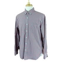 J Crew Men's Button Down Long Sleeve 100% Cotton Pocket Red Check Shirt ... - $17.45