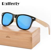 f45dd58b1d3 Ralferty Retro Wood Sunglasses Men Bamboo Sunglass Women Brand Design Sp...  -  10.00