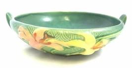Roseville Zephyr Lily 3 PC Pottery Console Bowl & Candlesticks Set VINTAGE - $183.26