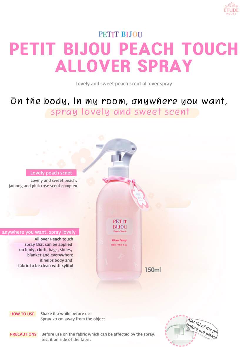 Etude House ETUDE HOUSE Petit Bijou Peach Touch All Over Spray 150ml / Lovely Sc