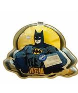 Wilton Cake Pan Metal Figure 1992 Batman Gotham DC comics superhero Bruc... - $39.55