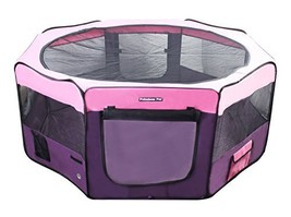 Fabulous Pet Portable Doggie, Puppy, Cat, Kitten Play Pen (Large|PURPLE-... - $107.12