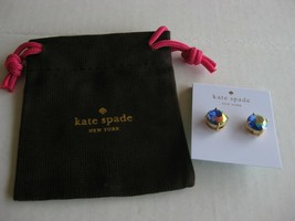 NWT Kate Spade NY Gold Tone Gumdrop Round Studs Earrings Iridescent Crystals - $21.50