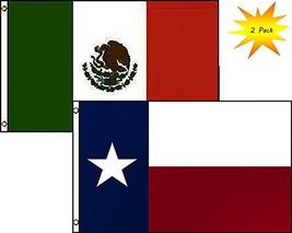 ALBATROS 3 ft x 5 ft State of Texas with Mexico Mexican Flag 2 Pack Set ... - $29.77