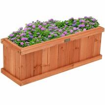 Wooden Planter Box Garden Yard Window Decorative Flower Bed Vegetable 2X... - $66.49