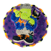 """JCPENNEY HOME Halloween FRANKENSTEIN Haunted House Dimensional 9"""" Plate - $14.82"""