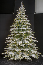 Medium Flocked Pre lit LED Fir Christmas Tree 7.5 ft Tall Full Size Rustic  - $589.00