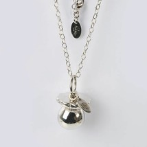Necklace Silver 925 with Pendant Pacifier Mexican Bola by Maria Ielpo - $89.86