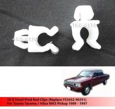 10 X Hood Prod Rod Clips For Toyota Hilux MK3 / Tacoma Pickup 1989 - 1997 - $7.75