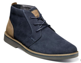 Men's Nunn Plain Toe Chukka Barklay Boots Navy Multi Dressy Casual 84793... - €72,13 EUR