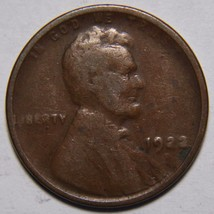 1922 WEAK D LINCOLN PENNY CENT COIN LOT# EA 175