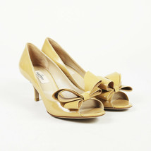 Valentino Patent Leather Open Toe Bow Pumps SZ 38 - $385.00