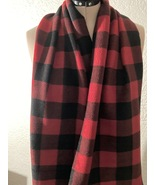 Red and Black Plaid Scarf  - $5.00