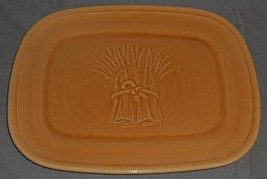 Franciscan LIGHT GOLD WHEAT PATTERN Oval Serving Platter CALIFORNIA - $23.75
